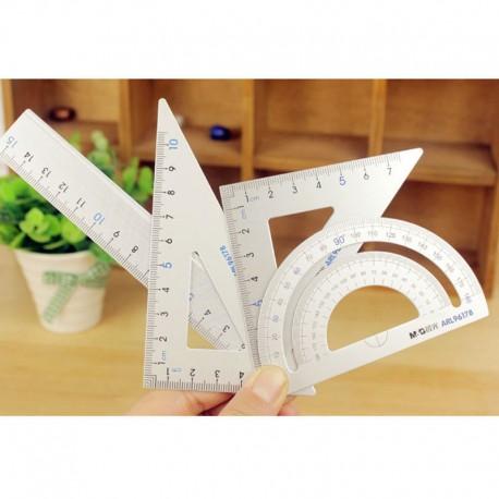 Alu lineal sæt, 15cm, 180°, 45° og 60°