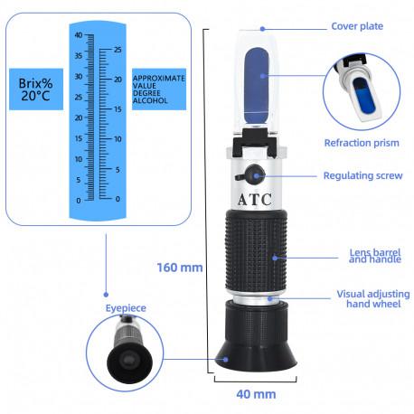 Alkohol Refraktometer