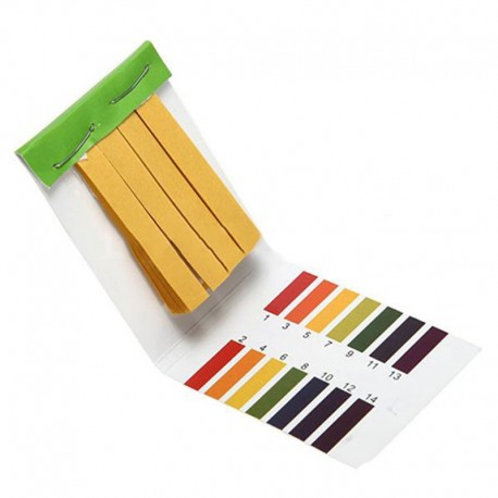 pH-papir (skala 1-14) 80 stk strips